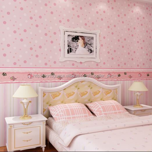 Papel de parede colorido flor barato revestimento de - Papel de pared barato ...