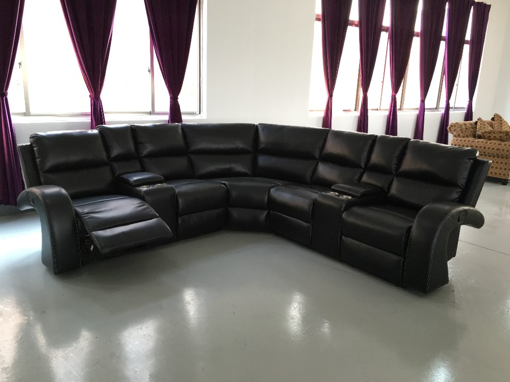 2016 New Trend Classic Leather Sectional Sofa Cum Bed Furniture