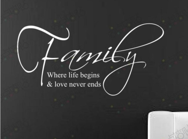 Family where life begins and love never ends...quotes and ...