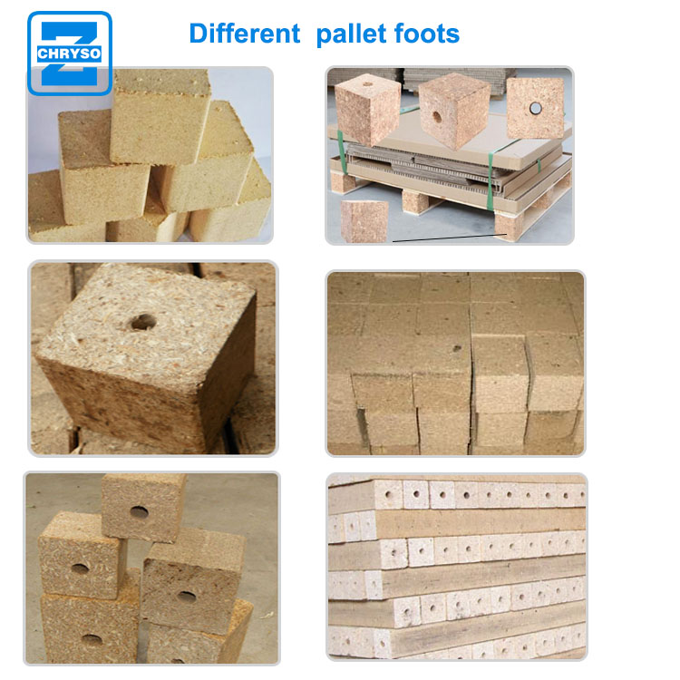 Low price wood sawdust block foot making machine for wooden pallet