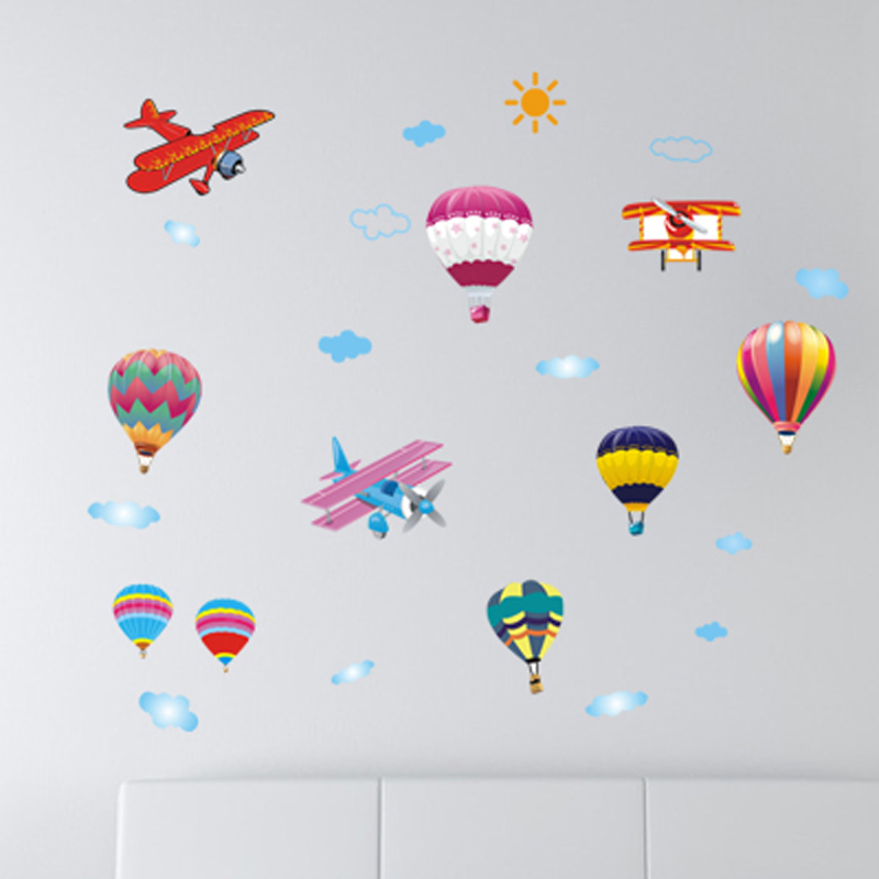 AY622 Removable 3d balloon school wall stickers