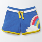 Ivy10384A Top selling fashion summer cotton kids shorts girls rainbow shorts