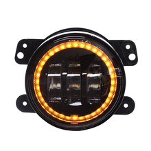 "4inch rear fog lamp for jeep wrangler jk 4"" 30w led fog lights with halo for jeep"