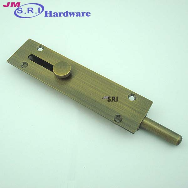 Modern brass surface mounted floor door lock bolt buy for Surface lock