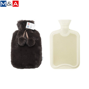 Hot selling colorful fur plush warm bag nature rubber hot water bottle with cover