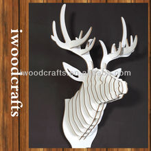 eco friendly wooden deer head product for decorating