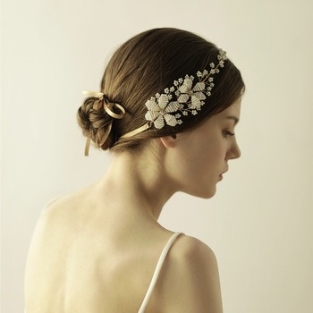 New Fashion Crystal beads Flower Headpiece Wedding Hair Accessories Special  Occasion Headbands Bridal Headband Tiara 915d64c8a25