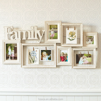 Engineered Wood Photo Frame Family Photo Frame Wall Decoration