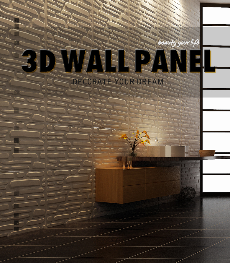2018 Interior y exterior de pared decorativo 3d paneles de pared