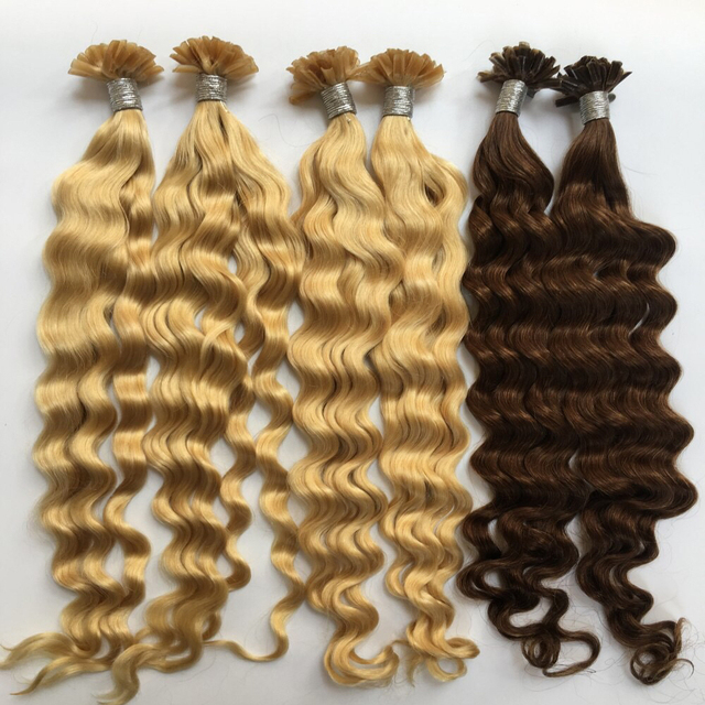 China Nail Tip Curly Human Hair Extensions Wholesale Alibaba