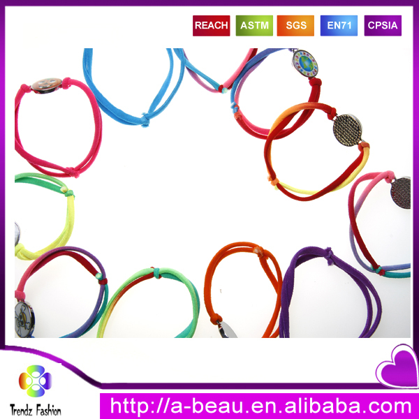 New American Design Heart Shape Love Elastic Mood Changing Oil Drip Alloy Bracelet Wholesale