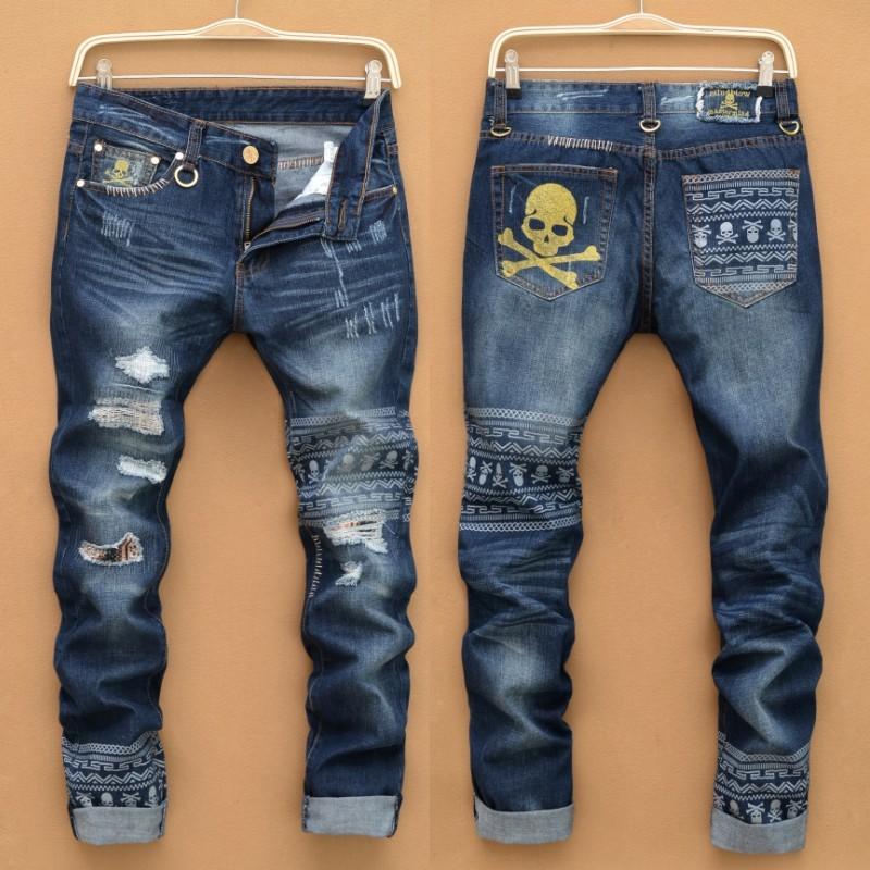 Skull Pattern Pants Design Men Fashion Cheap Jeans From Ebay China