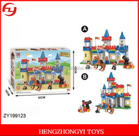Educational building blocks toys 168 pieces of castle empire with horse