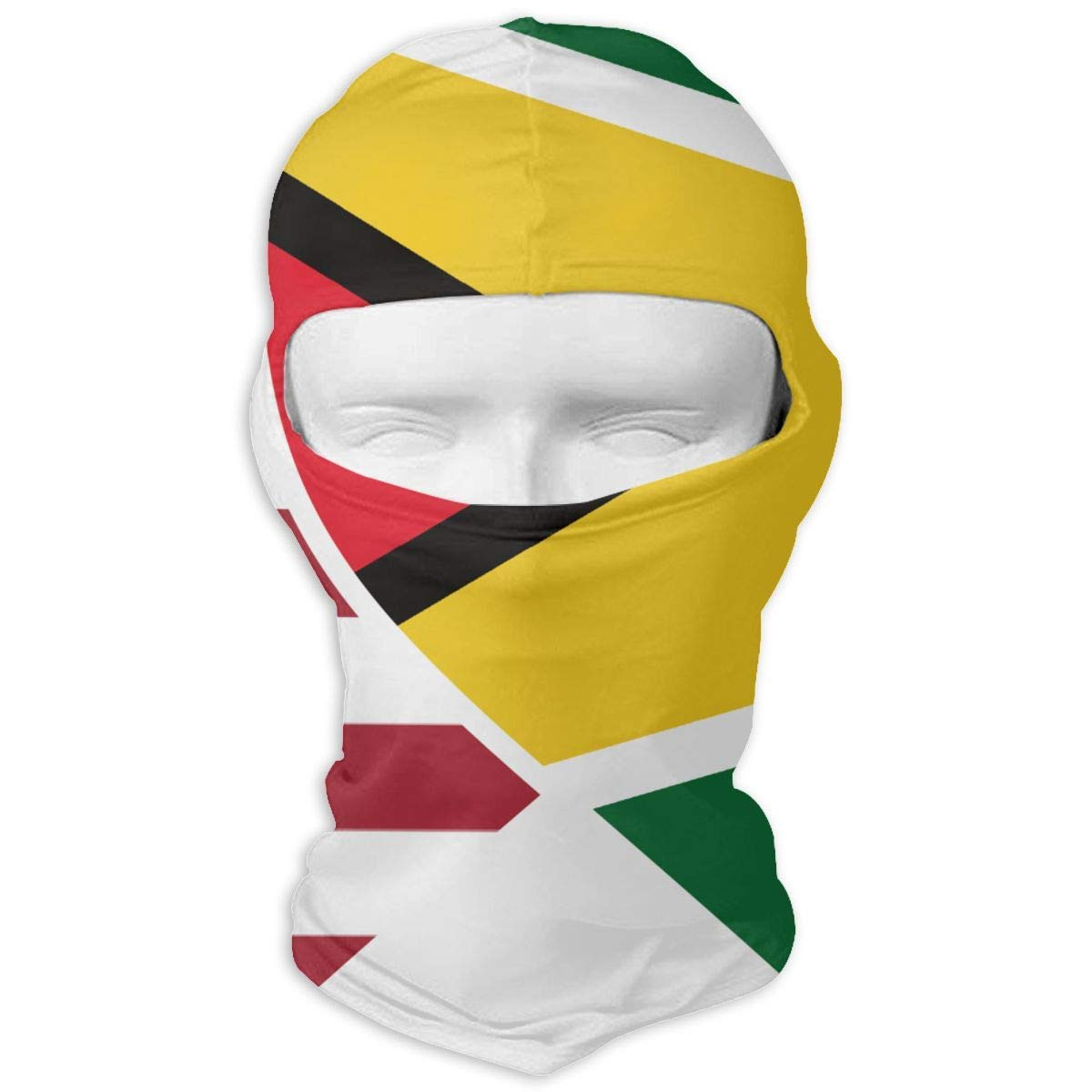Guyana USA Flag Twin Heart Windproof Dust Protection Balaclava Full Face Mask Hood Headcover