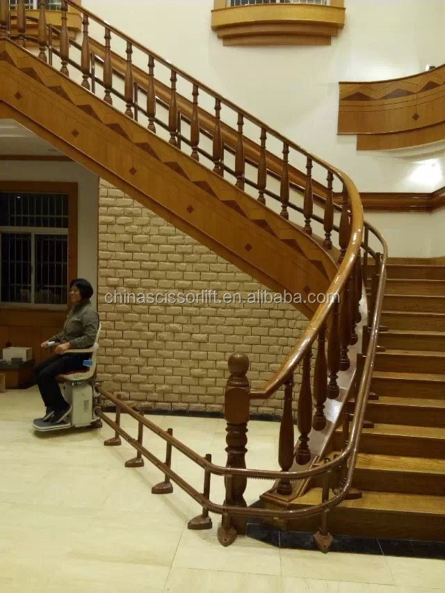 Electric Wheelchair Lift Seat/Curved Stair Chair Seat Lift