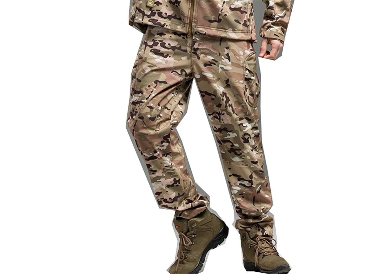 Jeff Tribble Soft Shell Tactical Military Camouflage Pants Men Windproof Waterproof Camo Army Fleece Pants