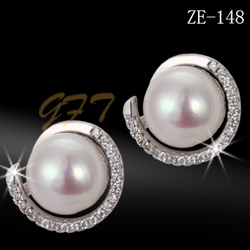 Newest design 925 sun silver jewelry earring with cz