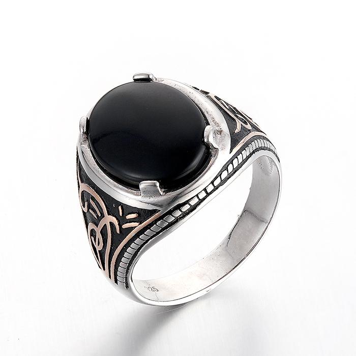 black stone rings for men