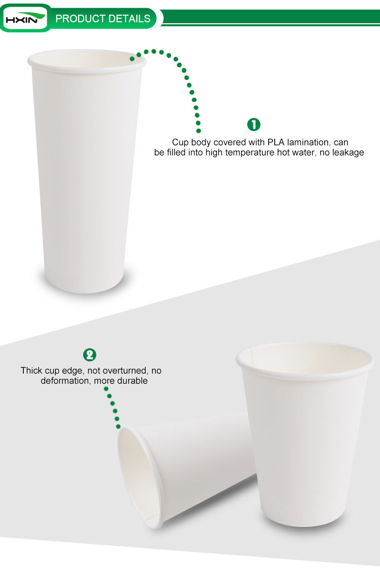 white paper material for beverage use double wall disposable coffee paper cups