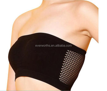 3bb5d6a3701e1 Women Strapless bandeau bra Breathable Sports Bras Bandeau Boob Tube with  support