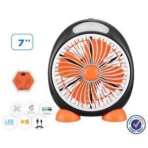 Emergency rechargeable mini usb fan with customized led message