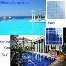 "Factory supply wholesale price ,porcelain tiles,Size for 48x48mm(2x2""),Swimming pool tile blue"