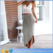 Summer Style Hot Selling Two Piece V-Neck Sleeveless Women Beach Dress