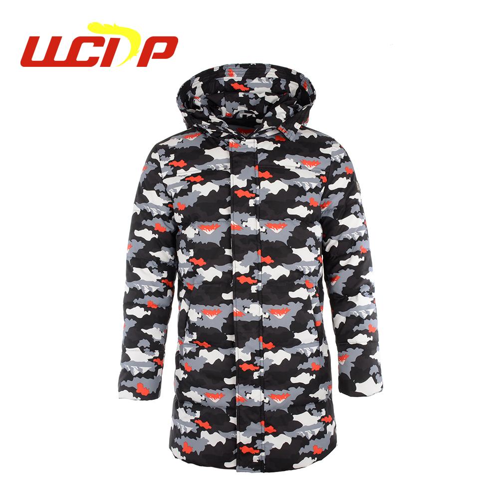 ffaf045c6f0 Ad Fashion design OEM accepteren custom winter puffer camouflage print  gewatteerde donsjack mannen lange jas