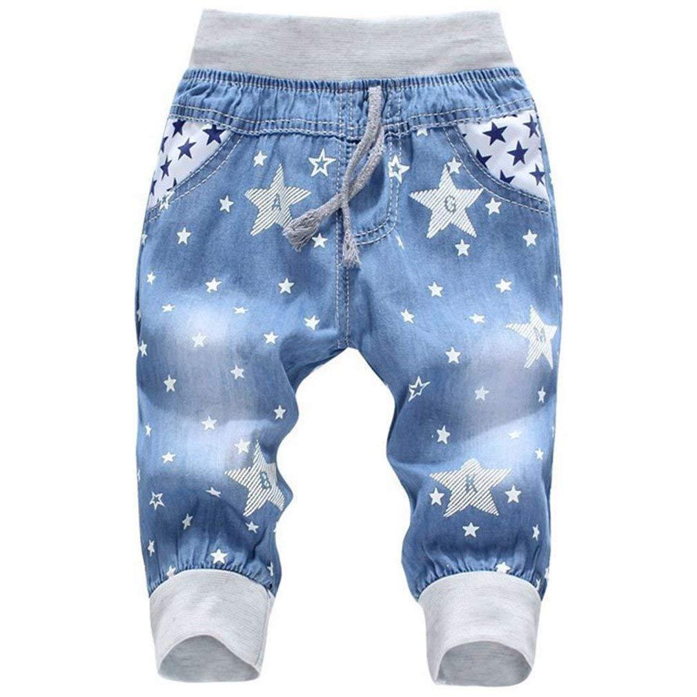 f0ec349787372 Get Quotations · Whobesta Girl Summer Denim Jeans Children Pants Baby  Elastic Waist Jeans Pants
