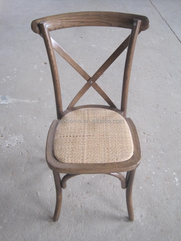 Vintage roble/haya/cross back chair comedor de madera de abedul, x ...