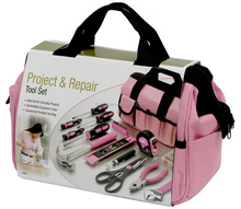 76pcs pink ladies tool set with 600D canvas bag