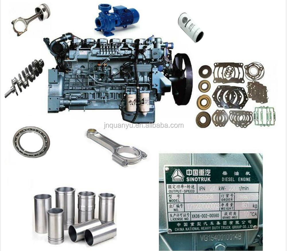 Sinotruk Howo truck onderdelen engine alle pakking reparatiesets