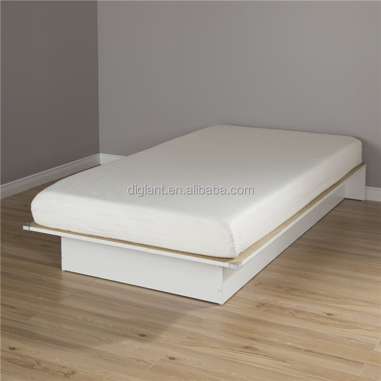 Twin Platform Bed With 6 Somea Mattress Pure White 39 Buy Modern Platform Bed Chinese