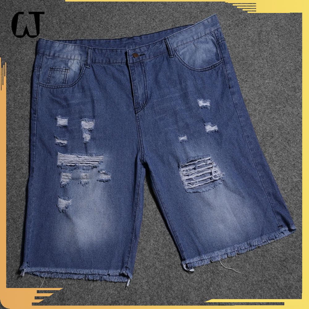 F9563 Wholesale price hotsale2017trending products Denim Washed Skinny care suit mens Ripped high waist Jeans Shorts in stock
