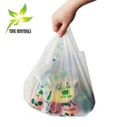 100% home compost biodegradable plastic shopping carrier bags