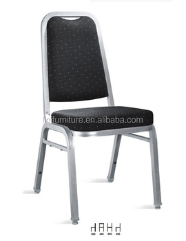 hotsale hotel used silver steel banquet chairs in steel tube 25x25x1.2mm LQ-A912