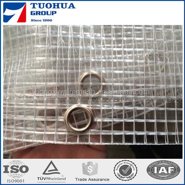 2m Width PE Grid Film in Roll Packing,PE Leno Tarpaulin for Roofing Cover