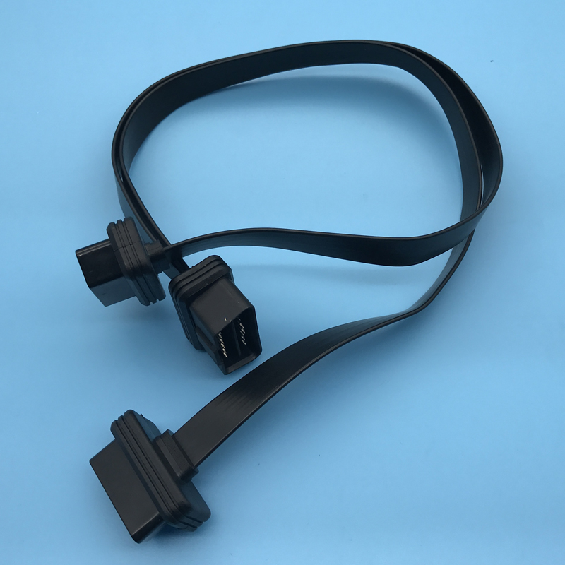 OBD Splitter Y Cable Male OBD To Two Female Flat OBD2 Cable