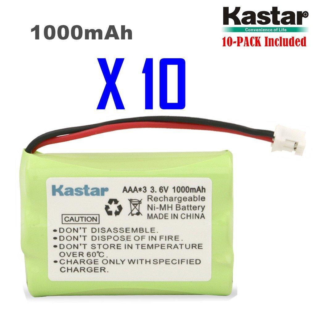 Kastar 10-PACK AAAX3 3.6V PH 1000mAh Ni-MH Battery for Motorola Series Monitor and Graco 2795DIG1, 2791, 2796VIB1, TMK NI-MH, iMonitor vibe
