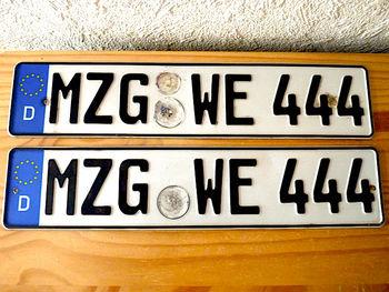H D Custom Europe Number Plate London Emboss Car Number Plate