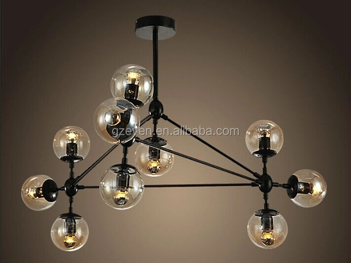 10 light lamparas ara a moderna bola de cristal vintage - Lamparas arana modernas ...