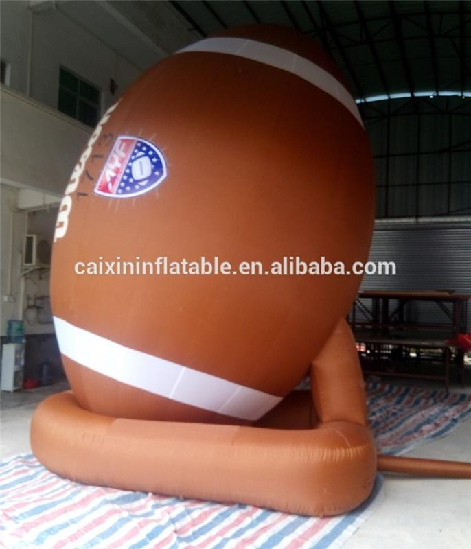 outdoor big Advertising Inflatable 3m dia Beach rugby ball replica for sale