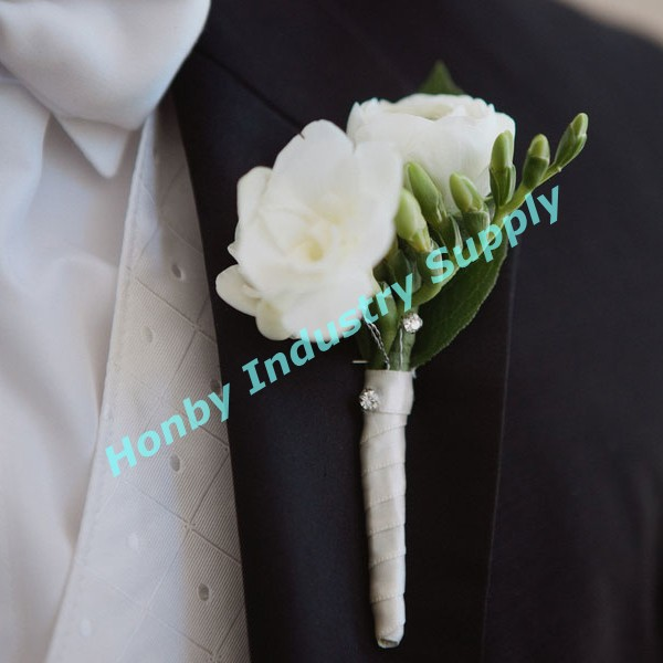 Plastic Crystal Diamond Head Corsage Pin for wedding