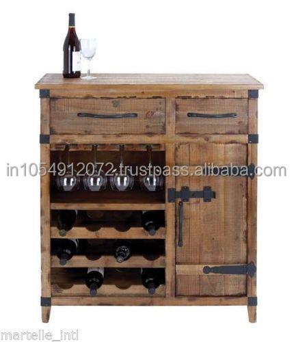 Reclaimed Wood Wine Cabinet Furniture - Buy Reclaimed Teak Wood ...