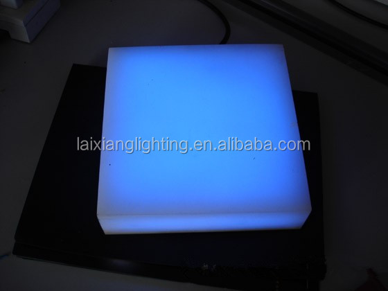 Colorful changing square led floor light floor lamp modern with fiber optic floor lights can be design by customers