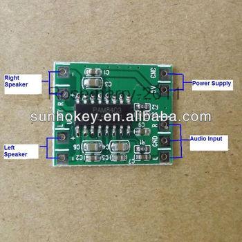 New Pam8403 2x3w Mini Audio Class D Amplifier Board 2 5-5v Input - Buy Mini  Amplifier Board,Mini Audio Class D Amplifier Board,Pam8403 2x3w Mini Audio