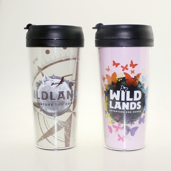 16oz Sublimation Plastic Travel Mug With Insert Personalized Photo Coffee Removable Lid