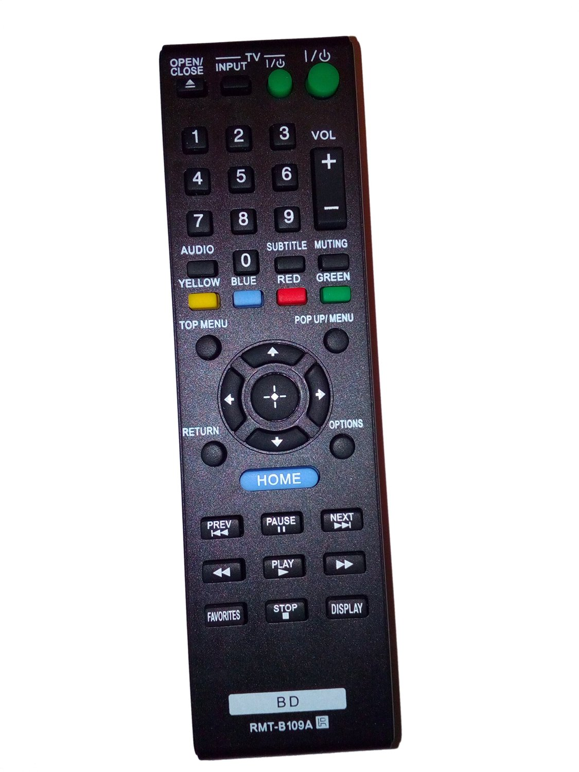 New Replacement Remote Control 148939911 RMT-B109A for Sony BDP-S280 BDP-S380 BDP-S480 BDP-S580 BDP-BX38 BDPS380 BD Blu-ray DVD Disc Players