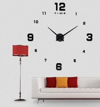 Menonton merek mewah jam dinding yang modern dekorasi dengan diy 3d jam  dinding logam stiker! e2220014c7