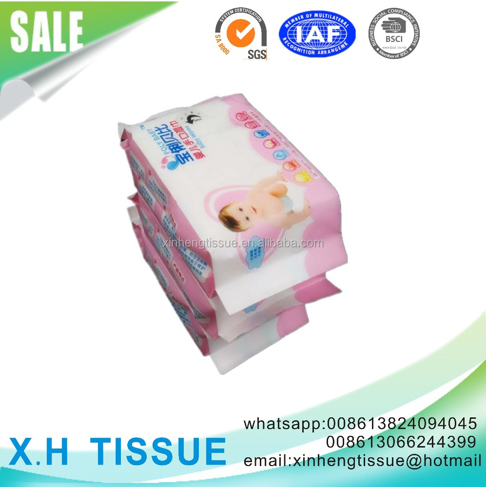 the spunlace Nonwoven baby wet tissue
